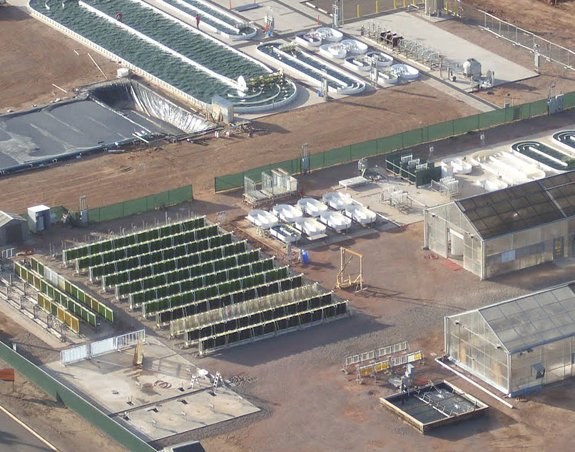 Aerial view of outdoor cultivation facilities