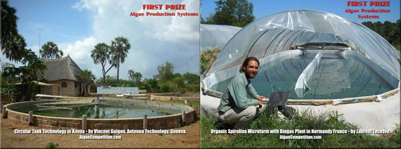 Two winners will share the Algae Production Systems First Prize ($2000)