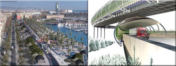 Asteriofuel Algae Fuel Stations in Urban Areas, Barcelona Spain. By Ignacio Montojo. Green Miles. I-40 near Knoxville, Tennessee. By Kathryn Hier.