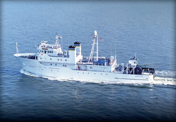 Great Lakes Maritime Academy training ship, the TS State of Michigan, formerly the U.S. Naval ship Persistent