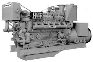 Caterpillar D398 16 cylinder engine