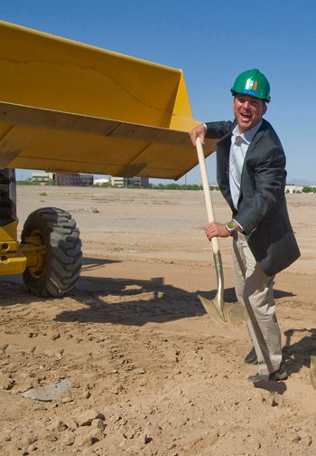 Dan Simon at groundbreaking of 20-acre development in May, 2012