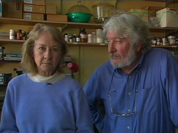 Keith with his wife and lab partner, Barbara Wittlesworth Cooksey.