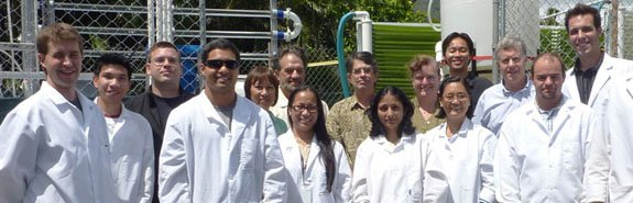 Kuehnle AgroSystems' staff at the Honolulu demonstration facility