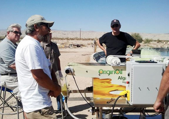 OriginOil field testing their Aquappliance™ on location in California's Coachella Valley