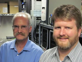 PNNL researchers Mark Wigmosta (lleft) and Erik Venteris (right).