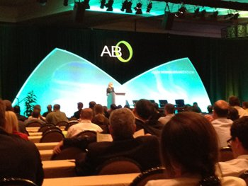 CJ giving a keynote address at this year's ABS in Denver.