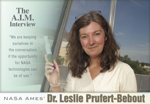 The A.I.M. Interview: NASA Ames' Dr. Leslie Prufert-Bebout