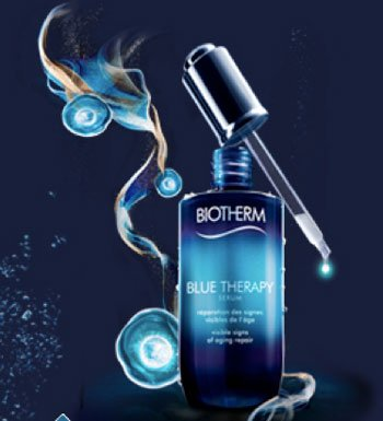 Biotherm's Blue Therapy collection promotes the regenerating properties of algae and plankton.