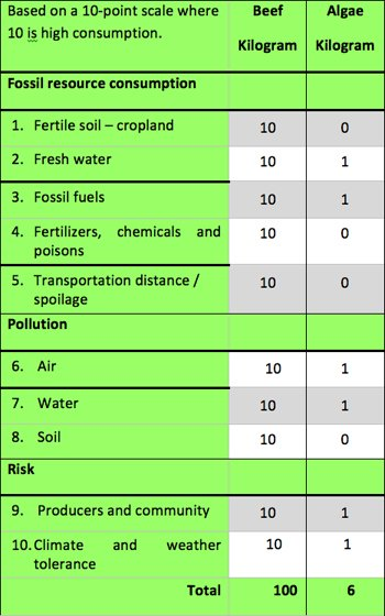 Food or Biofuel Ecological Footprint
