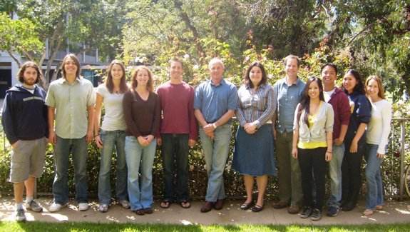 Mayfield Lab team (L to R): Javier Gimpel, Dan Barrera, Liz Specht, Beth Rasala, Jamie Gregory, Stephen Mayfield, Carla Jones, Mike Hannon, Trang Le, Miller Tran, Julie Kim, Crystal Warning